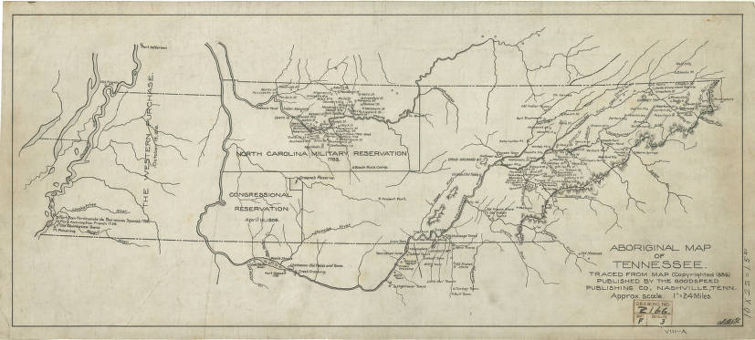 Aboriginal map of Tennessee. Traced from map (copyrighted ...
