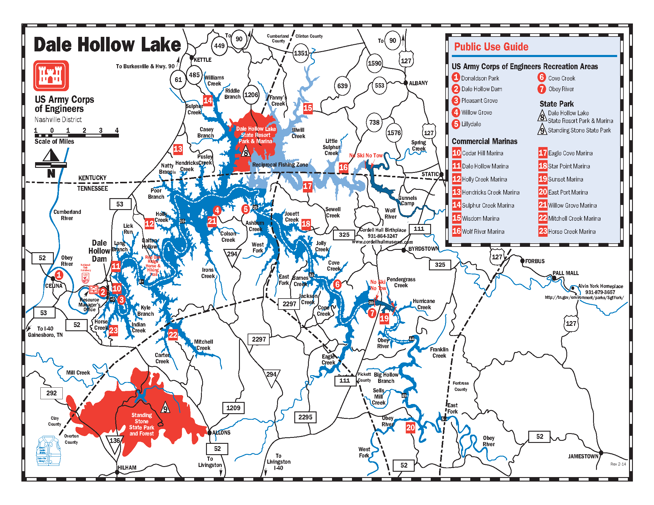 Map Of Dale Hollow Lake Dale Hollow Lake: Public use guide   Booklets, Manuals, and Guides