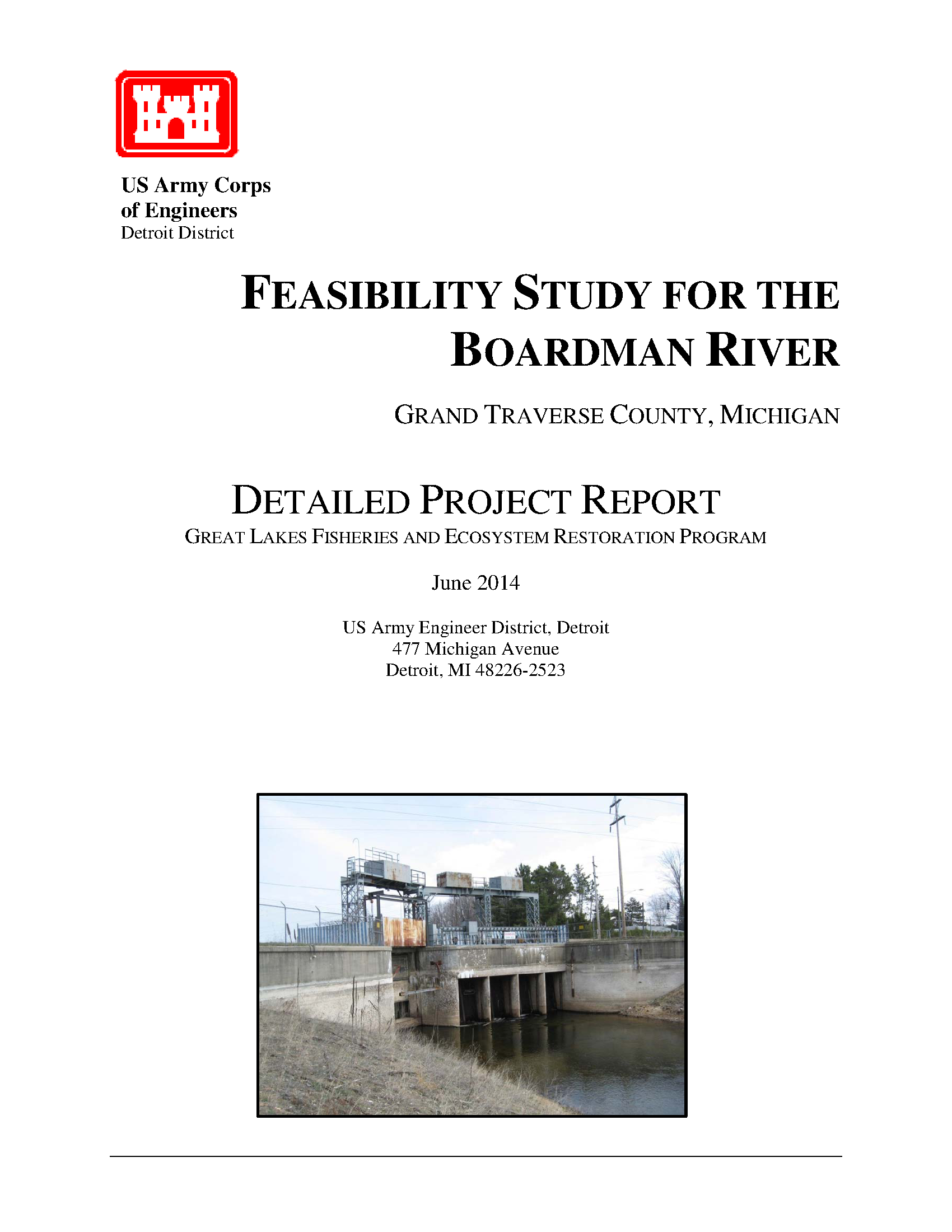 Feasibility study for the Boardman River, Grand Traverse County