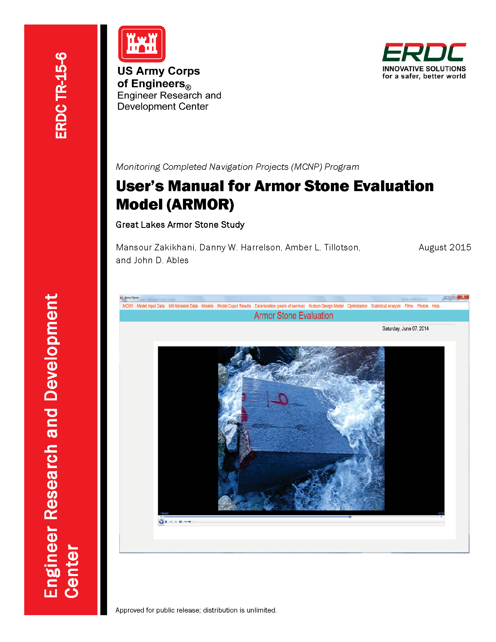 User S Manual For Armor Stone Evaluation Model Armor Great Lakes Armor Stone Study Technical Reports Usace Digital Library