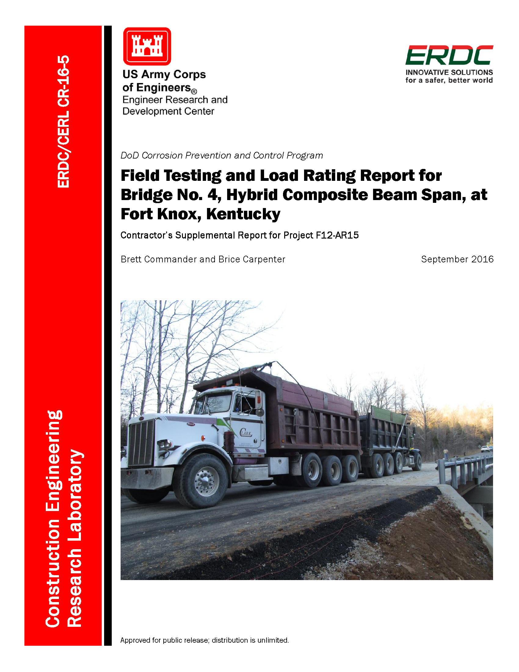 Field testing and load rating report for Bridge No  4