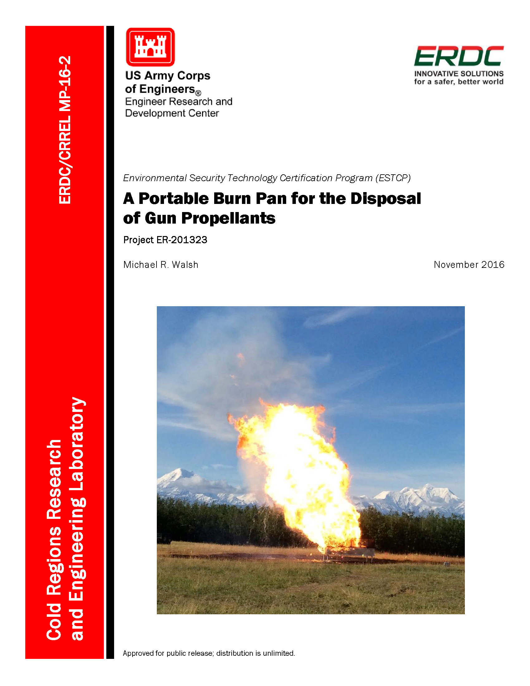 A Portable Burn Pan For The Disposal Of Gun Propellants Project Er